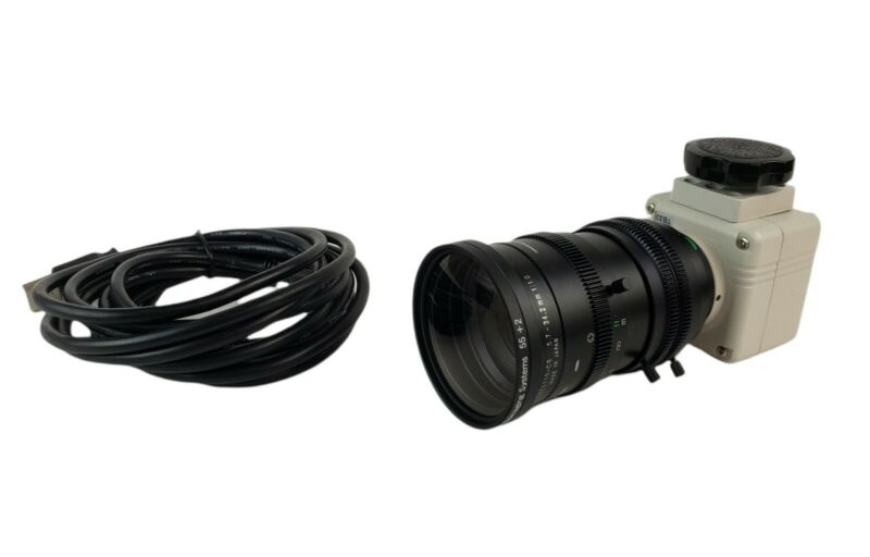 SENTECH STC-TB33USB-AS Computar T6Z5710-CS UVP Bioimaging Camera 55+2 5.7-34.2mm