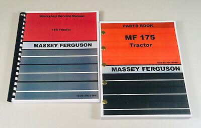 Massey Ferguson 175 Tractor Service Repair Manual Parts Catalog