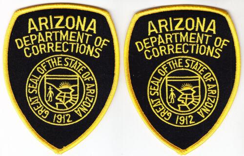 Arizona Dept of Corrections 2 FULL COLOR shoulder patches AZ police DOC