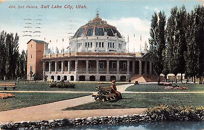 SALT LAKE CITY UTAH SALT PALACE~THE BUREAU PUBLISHED POSTCARD 1910 PSTMK