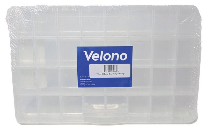 Velono 32 Compartment Clear No Spill Storage Organizer for Craft Bead Jewelry...