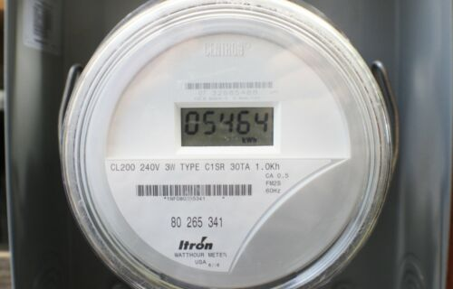 Itron / Centron LCD Watthour Electric Meter MD C1SR CL200 240V 3W FM2S FREE SHP