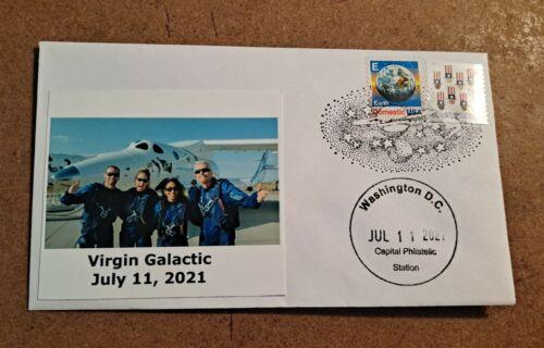 714 Virgin Galactic July 2021 test flight Richard Branson post flight crew photo