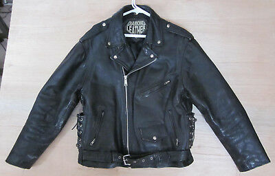 LEATHER JACKET ~ Motorcycle, PUNK, Heavy Metal, Size 50, Diamond Leather for sale  Shipping to India