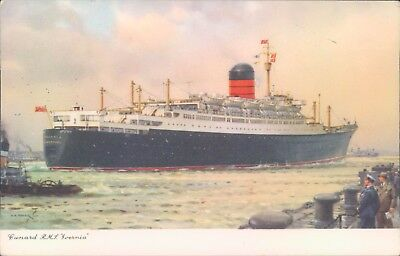 Postcard Shipping Cunard liner RMS Ivernia unposted