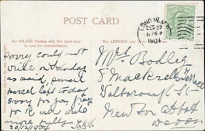 Mrs Bodley. 8 Mackrells Terrace, Wolborough St, Newton Abbot. 1904  JE.1626
