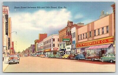Erie PA~State Street~Kresge~GC Murphy 5&10c Store~FW Woolworth~1940s (Erie Pa Stores)