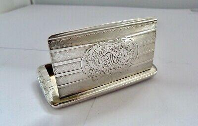 1864 - EDWARD SMITH - SOLID SILVER -  POCKET SNUFF BOX - 63.8 GRAMS
