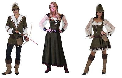 Partner Damen Herren Kostüm ROBIN HOOD mittelalter Larp Jäger Held Maid Marian  - Übergröße Maid Kostüm