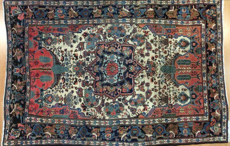 Tremendous Tribal - 1900s Antique Oriental Rug - Kurdish Carpet - 5.2 X 7.5 Ft