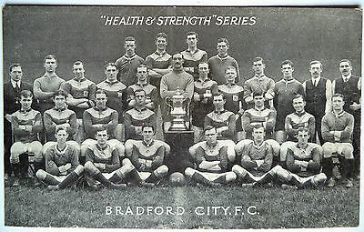 BRADFORD CITY F.C. 1911 F.A CUP WINNERS – ORIGINAL VINTAGE FOOTBALL POSTCARD