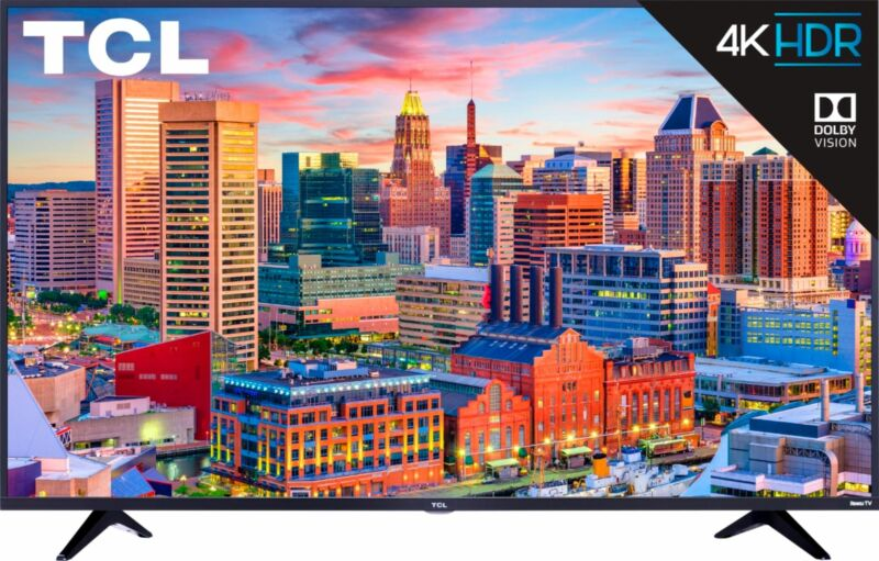 """TCL 43""""4K Ultra HD Dolby Vision HDR Smart Roku TV - 43S515"""