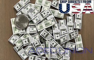 1/6 $100 US Dollars Cash Money Double Printed For 1/6 Figure Hot Toys USA - Dollar Toys