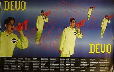 Devo 23x35 Shout Lyrics Music Poster 1984