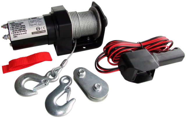 New Electric Recovery Winch Rope Manual Control ATV Truck 12 Volt DC 2000LB