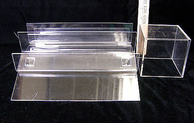 3 Tier Clear Acrylic Counter Top Display Rack Stand Square Cube Display 2 Lot