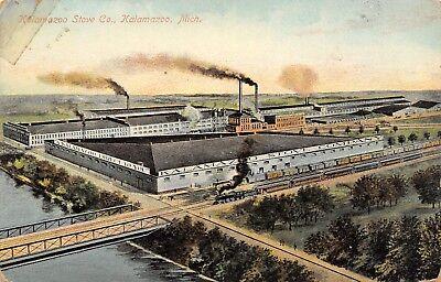 Kalamazoo Michigan~Kalamazoo Direct to You~Stove Company~Train RR Bridge~1908 PC for sale  Shipping to Canada