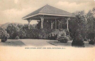 Band Stand West End Park Paterson,NJ Vtg 1901-1907 Postcard  - West Paterson Nj