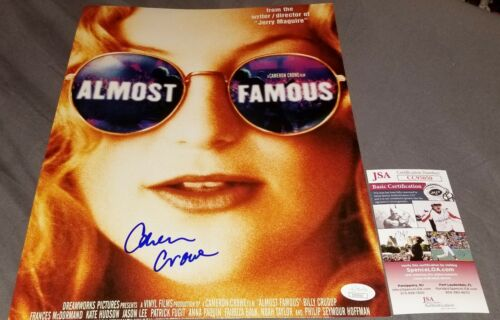 CAMERON CROWE SIGNED 11X14 PHOTO POSTER ALMOST FAMOUS JSA COA A