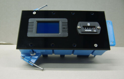 Electrical power monitor display panel, well pump, compressor, heater, W/METERS
