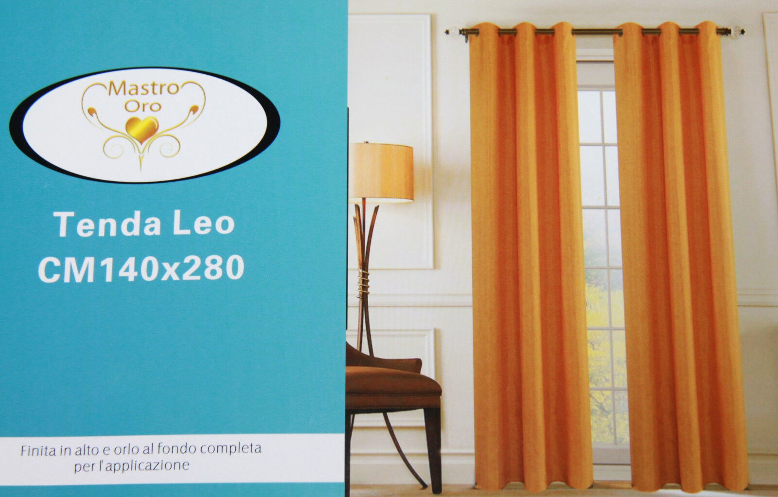 Telo Tenda MASTRO Pannello Singolo TENDONE CANAPONE LEO Juta Coprente 130x270 cm