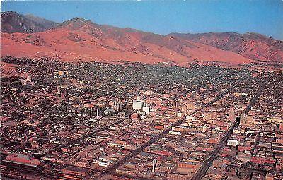 Utah postcard Salt Lake City, Air View chrome