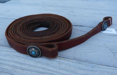 Leather Split Reins Turquoise Conchos 23528