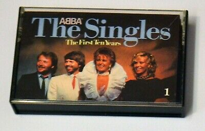 ABBA The Singles The First Ten Years Music Cassette Tape 1 1982
