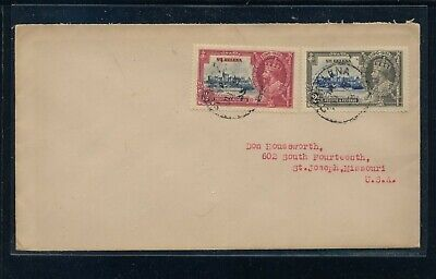 St  Helena  Jubilee stamps on cover  to US