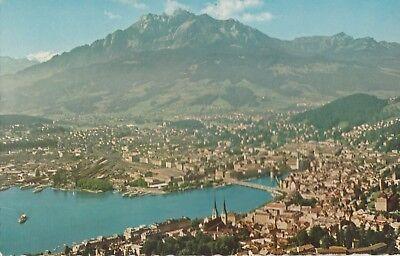 AK Luzern, Gesamtansicht gegen Pilatus