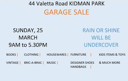 Garage Sale Quality Items to go Sun 25 March 9am