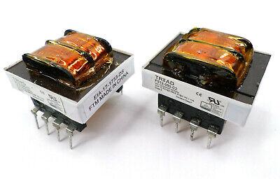 Lot Of 2 Triad Fs12-090-c2 Power Transformer 12.6v Ct Sec 115 Vac 230 Vac Pri