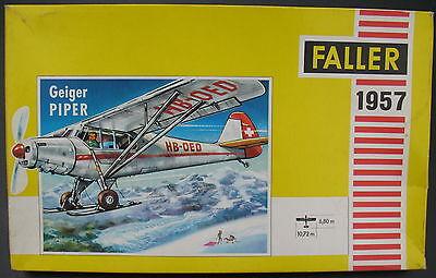 FALLER 1957 - Geiger PIPER - 1:100 - Flugzeug Modellbausatz - Model KIT