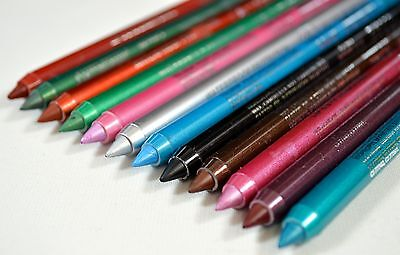 Lip/Eyeliner Pencils Pack Of 12 Different Colours, wholesale, job lot,