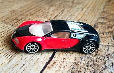 Hotwheels First Editions Bugatti Veyron Red and Black