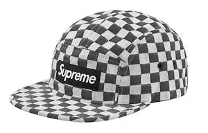 73ff2f94e40 Supreme Ss18 Checkerboard Camp Cap Black for sale online