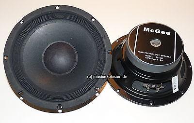 """2x McGee 20cm 8"""" PA-Subwoofer Bass Lautsprecher Tieftöner 200mm PAAR"""