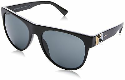 Authentic Versace Sunglasses VE4346 GB1/87 57mm Black-Gold / Grey Lens