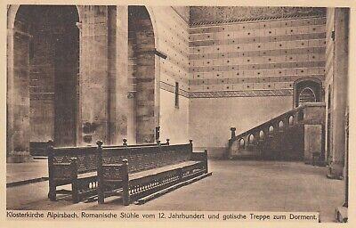 1304. s/w-AK. Klosterkirche ALPIRSBACH. Romanische Stühle vom 12. Jahrhundert. ()