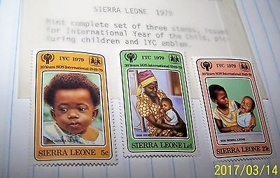 SIERRA LEONE 1979 POSTAGE STAMP SET YEAR OF THE CHILD # MNH LOT 95