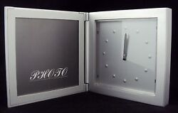 Desk Clock/Picture Frame/Paper Weight ~ Analog Dial In Aluminum Frame ~ CL-501