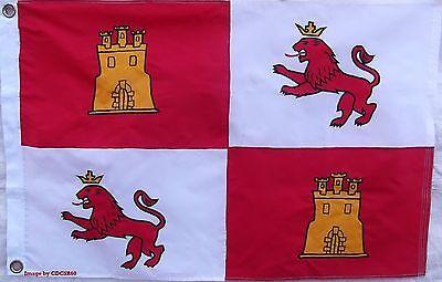 SEWN NYLON 2 X 3'  SPAIN LIONS & CASTLES FLAG -  SPANISH ROYAL STANDARD