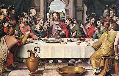 Alte Kunstpostkarte - Juan de Juanes - La ultima cena