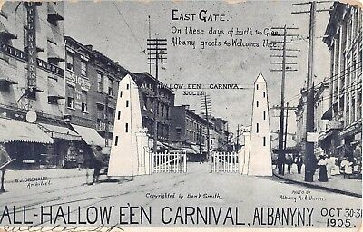 1905 Stores East Gate All Halloween Carnival Albany NY post card