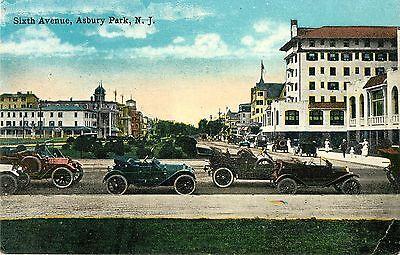 Early Autos Parked On Sixth Avenue  Asbury Park Nj