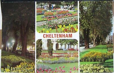 England Cheltenham Promenade at night Imperial Gardens etc - posted