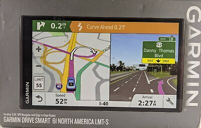 Garmin DriveSmart 61 LMT-S GPS w/ Lifetime Maps and Traffic