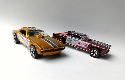 Hot Wheels 1993 Snake & Mongoose Funny Cars, Vintage Series 2, Gold and Red