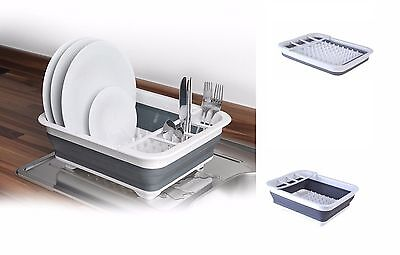 Large Collapsible Dish Drainer Washing Draining Board Cutlery Rack HOLDER TIDY