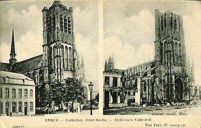 CPA - Belgique - Ieper - Ypres - Cathédrale Saint-Martin